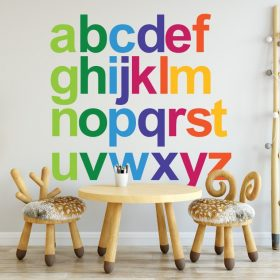 rainbow alphabet 1c Wall Sticker