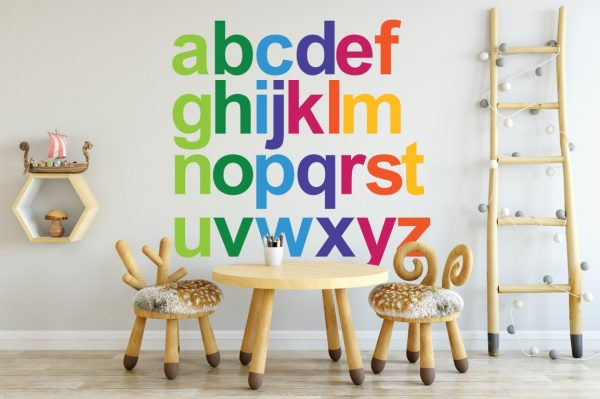 rainbow alphabet 1c Wall Sticker