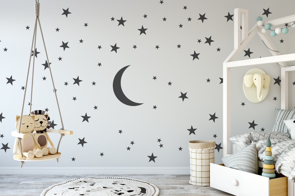 moon and stars wall art wall art stickers wall art wall