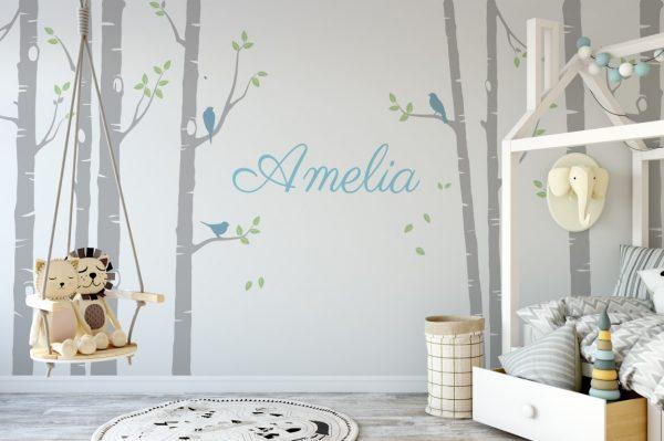 tree name Wall Sticker