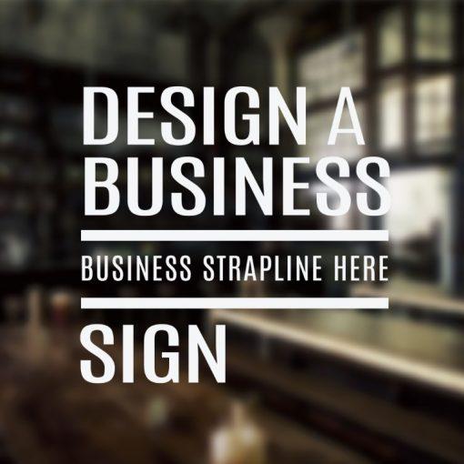 vinyl lettering Design a Sign - no5B - example 1-01