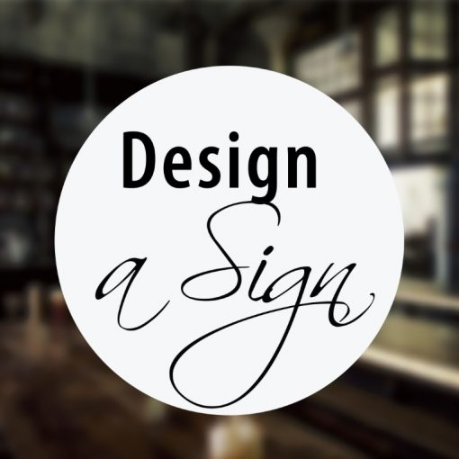 window clings Design a Sign - no2 - example 1-01