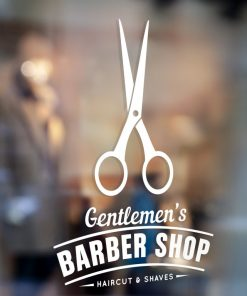 Barber Shop Sign 1e-window sticker decal