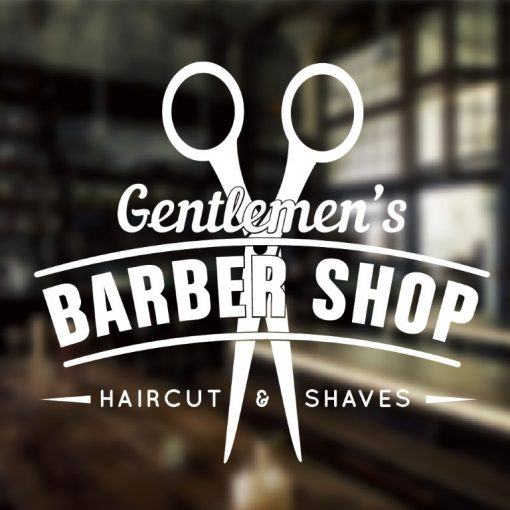 Barber Shop Sign 1f-01-window decal sticker