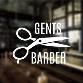 Barber Shop Sign gents 1d-01-window sticker decal