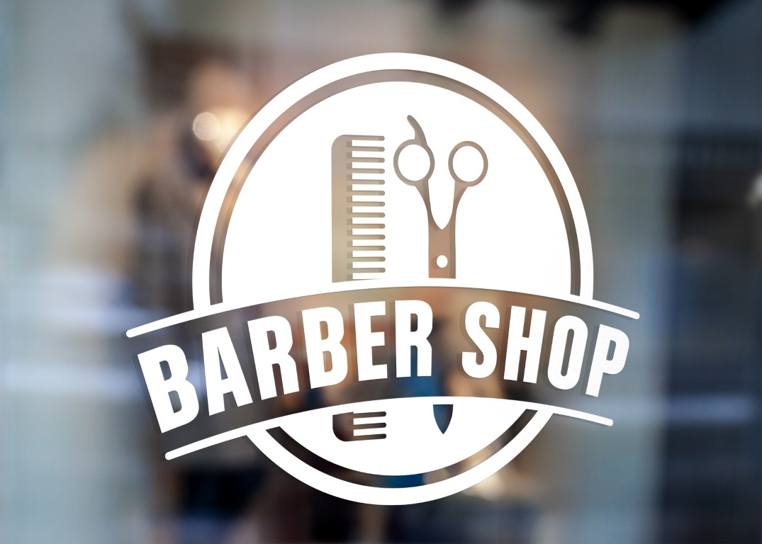 Barber Sign Pole Barber Shop Window Sign Vinyl Decal
