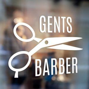 Barber Sign Pole - Barber shop window sign sticker decal 1d