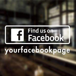 Facebook Custom Sign-01-window decal sticker
