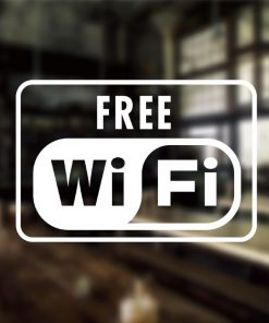 Free WiFi Sign-01-window sticker decal