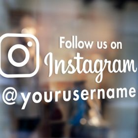 Instagram Custom Sign-window