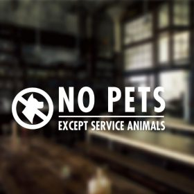 No Pets Allowed Sign-01-window sticker decal