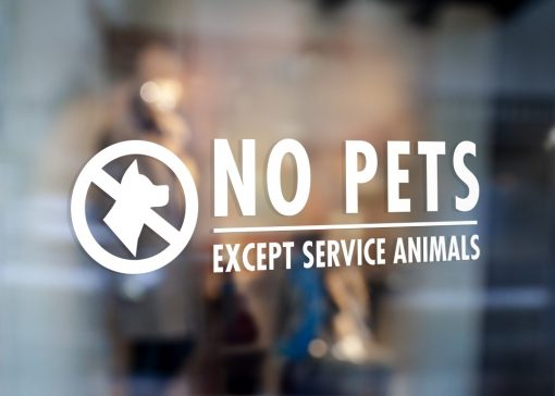 No Pets Allowed Sign-window sticker decal