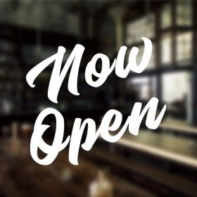 Now Open Sign-01-window sticker decal