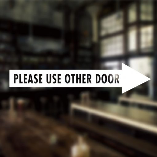 Please use other door sign-01-window sticker decal