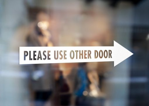 Please use other door sign-window decal sticker