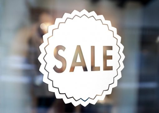 SALE SIGN 2-window decal sticker sign