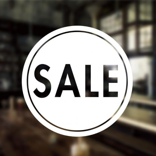 Sale Sign-01-window decal sticker