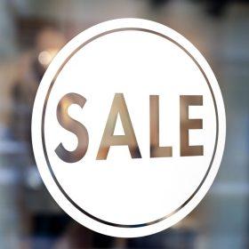 Sale Sign-window sticker decal