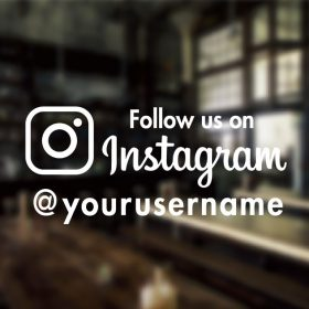 follow us on Instagram Custom Sign-01-window sticker decal