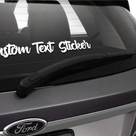 Custom Text Sticker on Car 2-01 Decal
