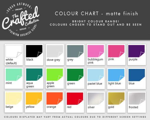 Vinyl Lettering Colours