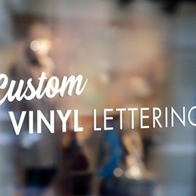 custom vinyl lettering window lettering
