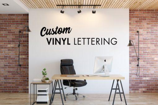 vinyl lettering wall lettering