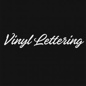 VINYL LETTERING 100-01 - Custom Car Wall Window Stickers