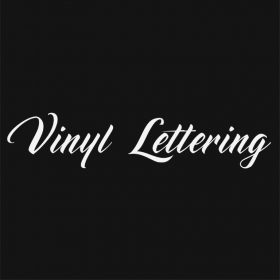 VINYL LETTERING 107-01 - Custom Car Wall Window Stickers
