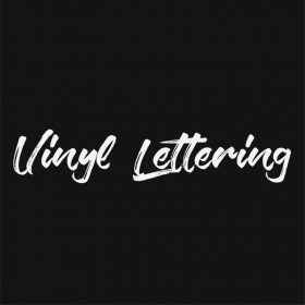 VINYL LETTERING 120-01 - Custom Car Wall Window Stickers