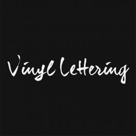 VINYL LETTERING 133-01 - Custom Car Wall Window Stickers