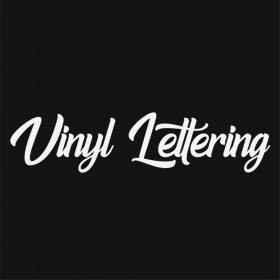 VINYL LETTERING 136-01 - Custom Car Wall Window Stickers