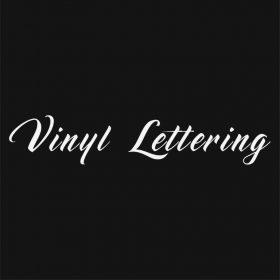 VINYL LETTERING 139-01 - Custom Car Wall Window Stickers
