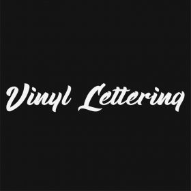 VINYL LETTERING 140-01 - Custom Car Wall Window Stickers