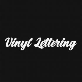 VINYL LETTERING 144-01 - Custom Car Wall Window Stickers