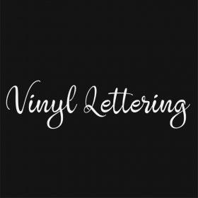 VINYL LETTERING 153-01 - Custom Car Wall Window Stickers