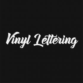 VINYL LETTERING 160-01 - Custom Car Wall Window Stickers
