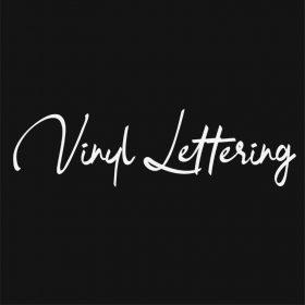 VINYL LETTERING 162-01 - Custom Car Wall Window Stickers
