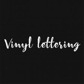 VINYL LETTERING 170-01 - Custom Car Wall Window Stickers