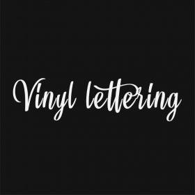 VINYL LETTERING 171-01 - Custom Car Wall Window Stickers