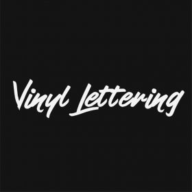VINYL LETTERING 177-01 - Custom Car Wall Window Stickers
