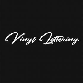 VINYL LETTERING 180-01 - Custom Car Wall Window Stickers