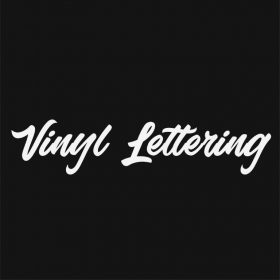 VINYL LETTERING 182-01 - Custom Car Wall Window Stickers