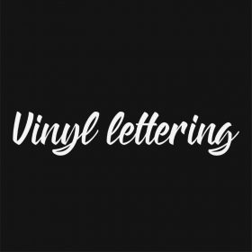 VINYL LETTERING 195-01 - Custom Car Wall Window Stickers
