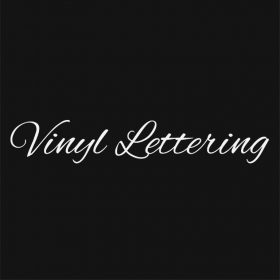 VINYL LETTERING 1K-01 - Custom Car Wall Window Stickers