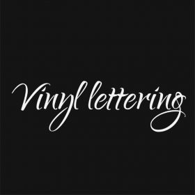 VINYL LETTERING 1e-01 - Custom Car Wall Window Stickers