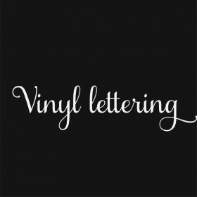 VINYL LETTERING 1w-01 - Custom Car Wall Window Stickers