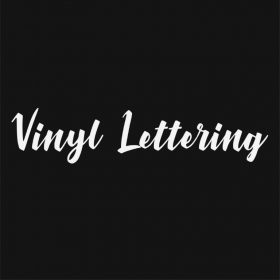 VINYL LETTERING 35-01 - Custom Car Wall Window Stickers