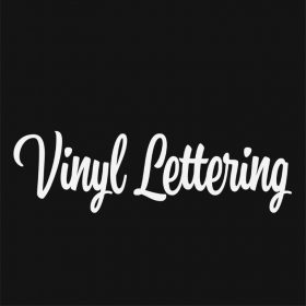 VINYL LETTERING 36-01 - Custom Car Wall Window Stickers