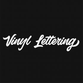 VINYL LETTERING 45-01 - Custom Car Wall Window Stickers